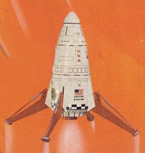 Model Rocket Building: Mars Lander Embossing?